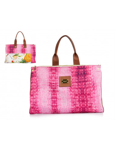 Printed reversible bag