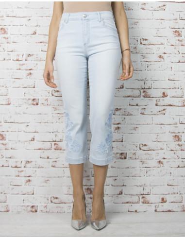 Pantacourt tube en jean