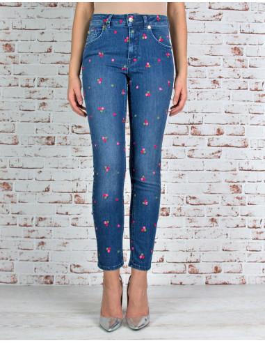 Jeans skinny ricamato
