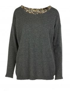 Maglia over in lana e cashmere