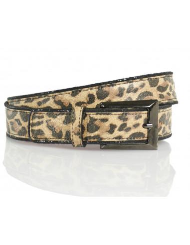 Animal-printed belt