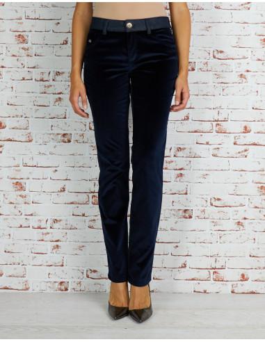 Pantalon tube en velours
