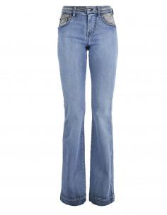 Jeans a zampa bicolore