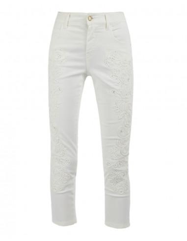 Pantalone cropped ricamato
