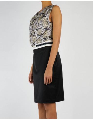 Printed, draped dress