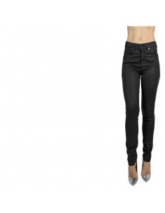 HIGH-WAISTED LEATHER-TOUCH...