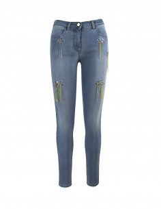 JEANS CROPPED CON CATENINE